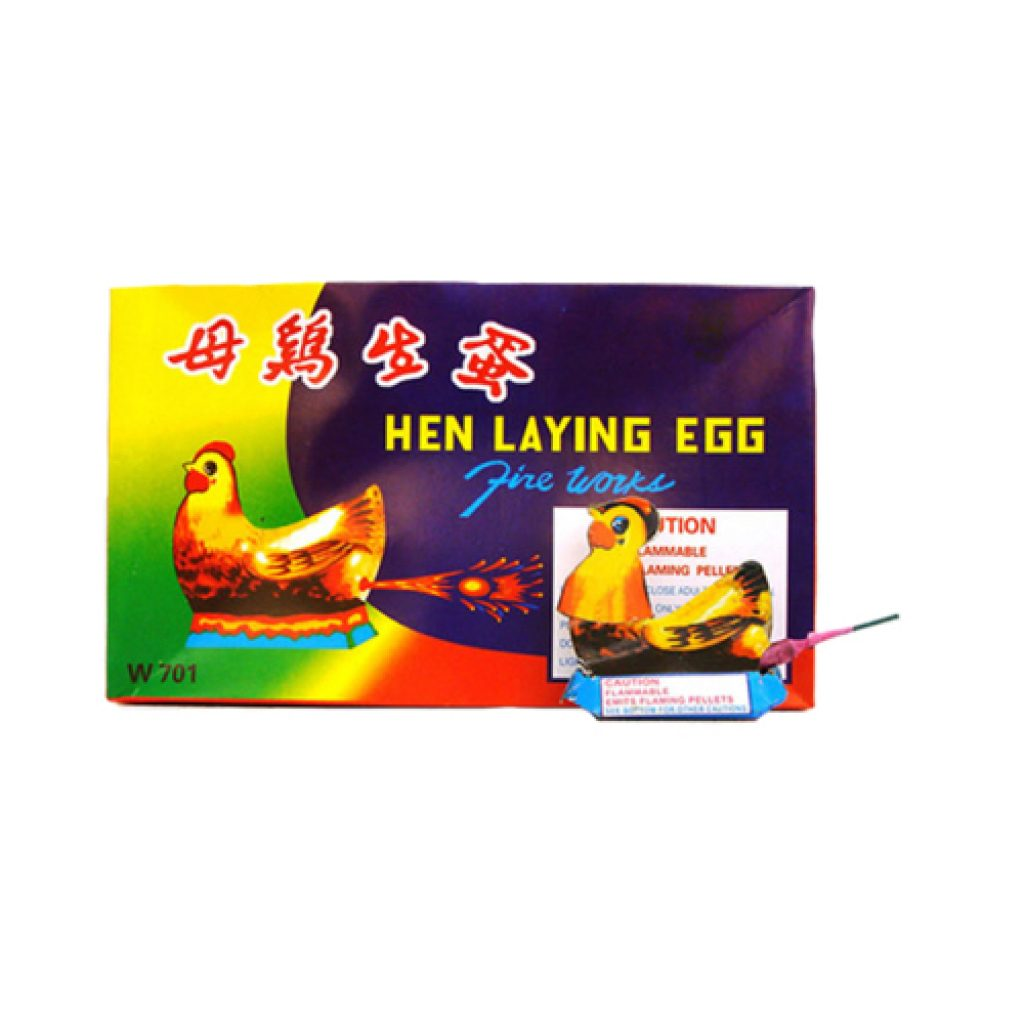 Hen Laying Egg